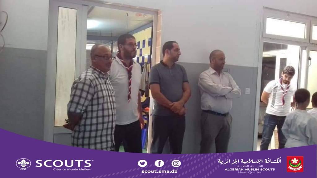 زيارة تفقدية ميدانية لمتابعة التحضيرات الخاصة بافتتاح الموسم الكشفي