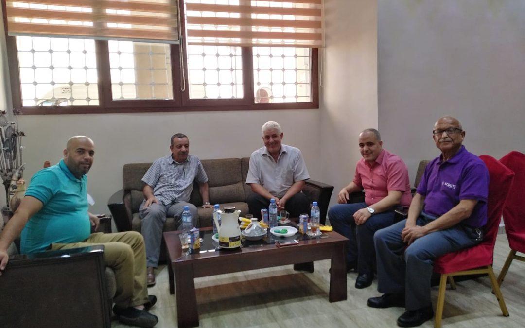 جلسة عمل مع رئيس جمعية مشعل الشهيد