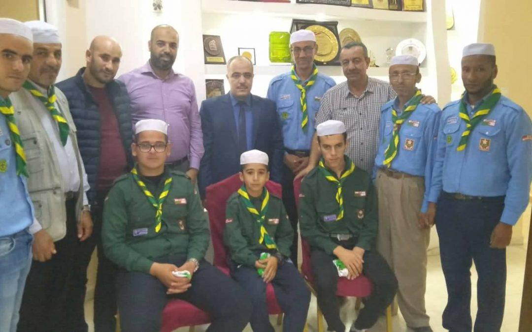 توديع الوفد الجزائري المشارك في المخيم الكشفي العربي الأول لدمج ذوي الإعاقة