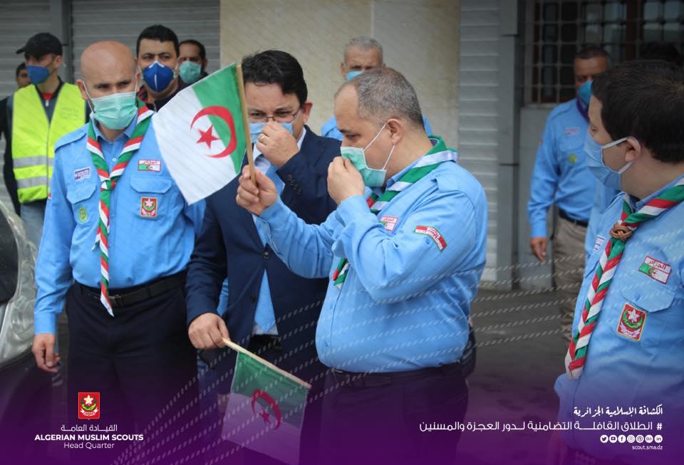 أشرف القائد العام السيد عبد الرحمن حمزاوي على انطلاق القافلة
