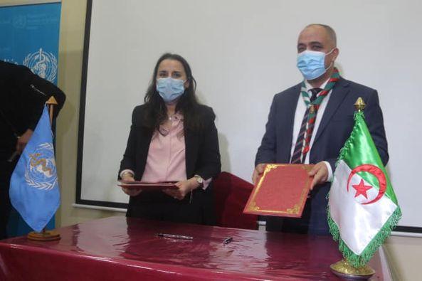اتفاقية شراكة تجمع الكشافة الإسلامية الجزائرية رفقة المنظمة العالمية للصحة – مكتب الجزائر