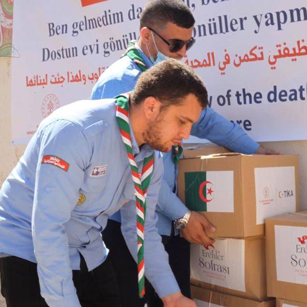الشراكة بين الكشافة الاسلامية الجزائرية ومؤسسة تيكا التركية