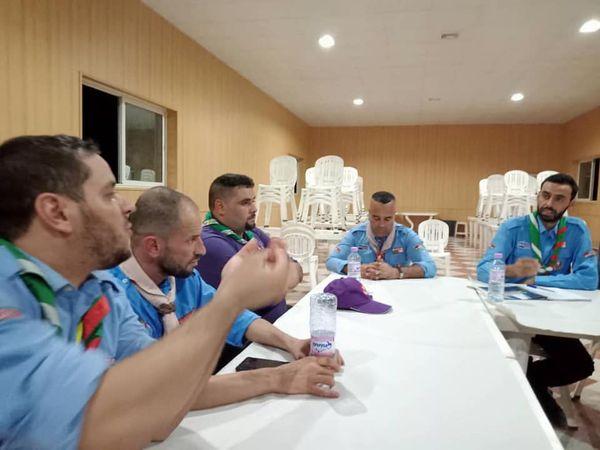اجتمع أعضاء اللجنة الوطنية لقسم الكشاف
