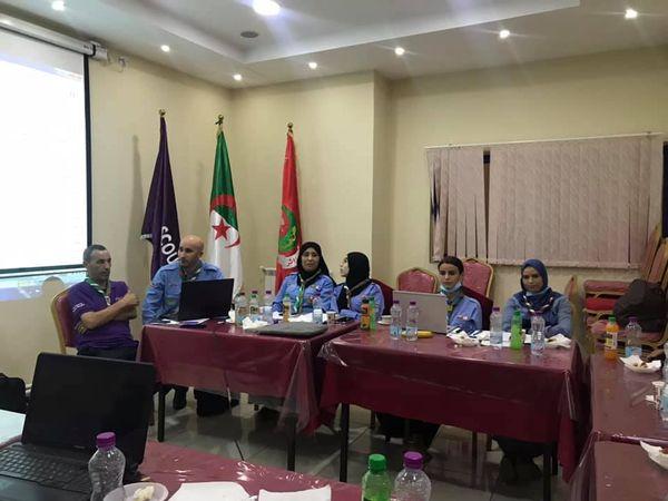 زيارة الدكتور فردي نائب رئيس جامعة تندوف إلى مقر القيادة العامة للكشافة الإسلامية الجزائرية